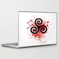 teen wolf Laptop & iPad Skins featuring Triskele 2 by AlixInsanity