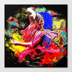 Spain Flamenco Dancer Canvas Print