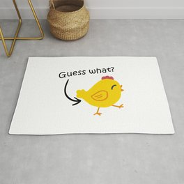 Humor and Funny: Guess What? Chicken Butt! Rug