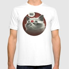 Hai! Mens Fitted Tee White LARGE