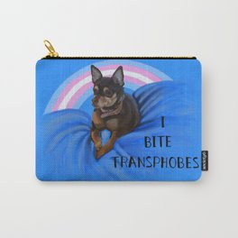 I Bite Transphobes-blue Carry-All Pouch