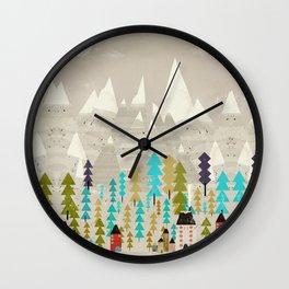 my happy mountains Wall Clock