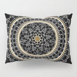 Black and Gold Mandala Pillow Sham