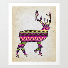 Deer Navajos pattern Art Print