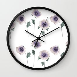 Hellebore . The floral pattern . Wall Clock