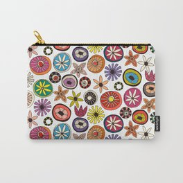 summer flowers multi white Carry-All Pouch