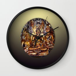 Gold Buddha Wall Clock