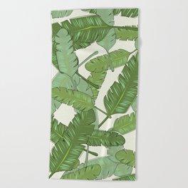 Banana Leaf Print Beach Towel