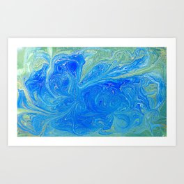 Blue & Green Art Print