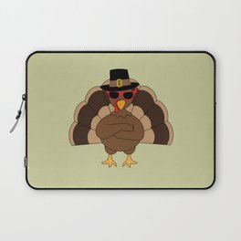 Cool Turkey with sunglasses Happy Thanksgiving Laptop Sleeve