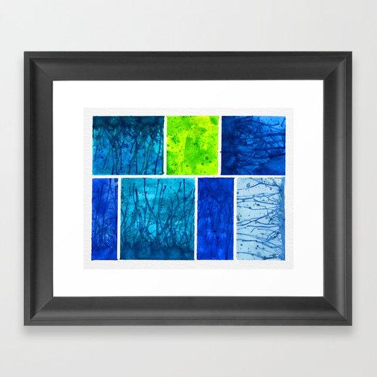Blue Block Framed Art Print