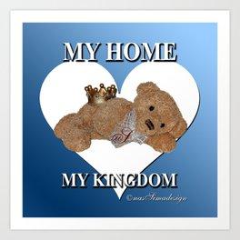 My Home, My Kingdom - Blue Art Print