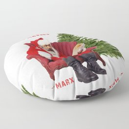 Karl Marx Santa Floor Pillow