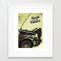 back to the future Framed Art Prints featuring Back to the future by Duke.Doks