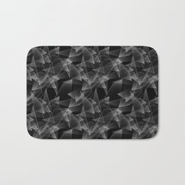 Abstract pattern.the effect of broken glass.Black background. Bath Mat