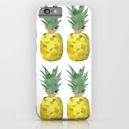 pineapple 2x4 pattern, fill, repeating, tiled | elegant iPhone Case