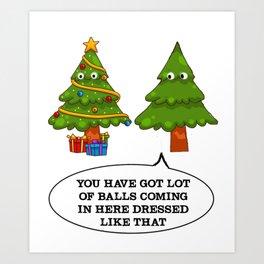 Christmas Tree Funny - Ugly Shirt Art Print
