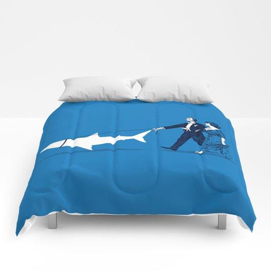 Walking the Shark Comforters