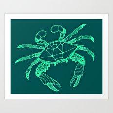 Green Crab Art Print