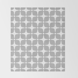 Mid Century Modern Star Pattern Gray 2 Throw Blanket