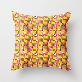 Pixel by pixel – The Birdy Bunch II Throw Pillow