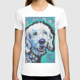 Fun Doodle Dog bright colorful Pop Art by Lea T-shirt