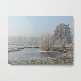 Winter landscape in NRW Metal Print