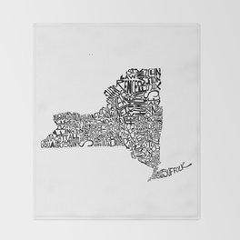 Typographic New York Throw Blanket