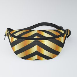 High grade raw material golden and black zigzag stripes Fanny Pack