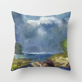 George Bellows - The Coming Storm, 1916 Throw Pillow