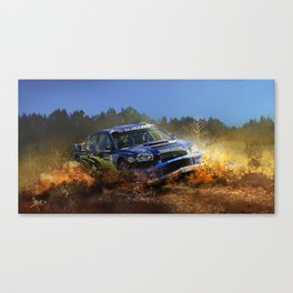 Subru WRC Canvas Print