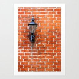 Brick Wall Light Art Print