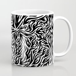 Black And White Psychedelic Flames Coffee Mug