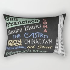 San Francisco Tourism Poster Rectangular Pillow
