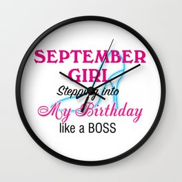 September Girl Birthday Wall Clock