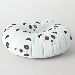 Panda Love- Mint Blue Floor Pillow