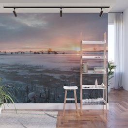 Sunrise at the Pond Wall Mural