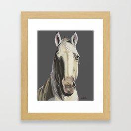 Horse Art, Grey Horse Art, Farm Animal Art Framed Art Print