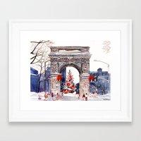 takmaj Framed Art Prints featuring Wait for green light by takmaj