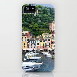 Portofino Harbour Italy iPhone Case
