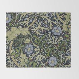 William Morris Seaweed Pattern Throw Blanket