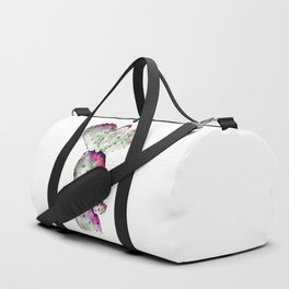 Purple and Green Cactus Duffle Bag