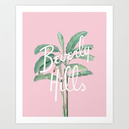 beverly hills Art Print