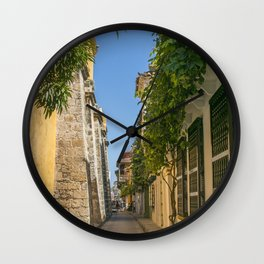 Cartagena Streets Wall Clock