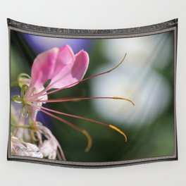 Cleome named Sparkler Pink Wall Tapestry
