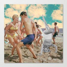 """Beach Blanket Bong Out"" Canvas Print"