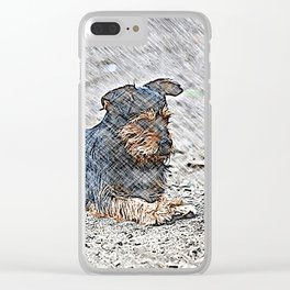 Impressive Animal - sketchy Dog Clear iPhone Case