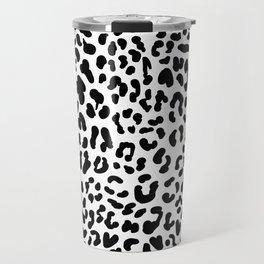 Black & White Leopard Skin Travel Mug