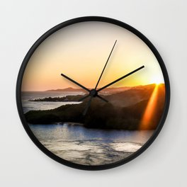 Roatan Sunset Wall Clock