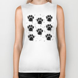Pawprint Love Biker Tank